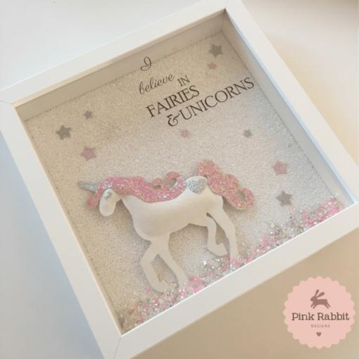 glitter unicorn frame full glitter