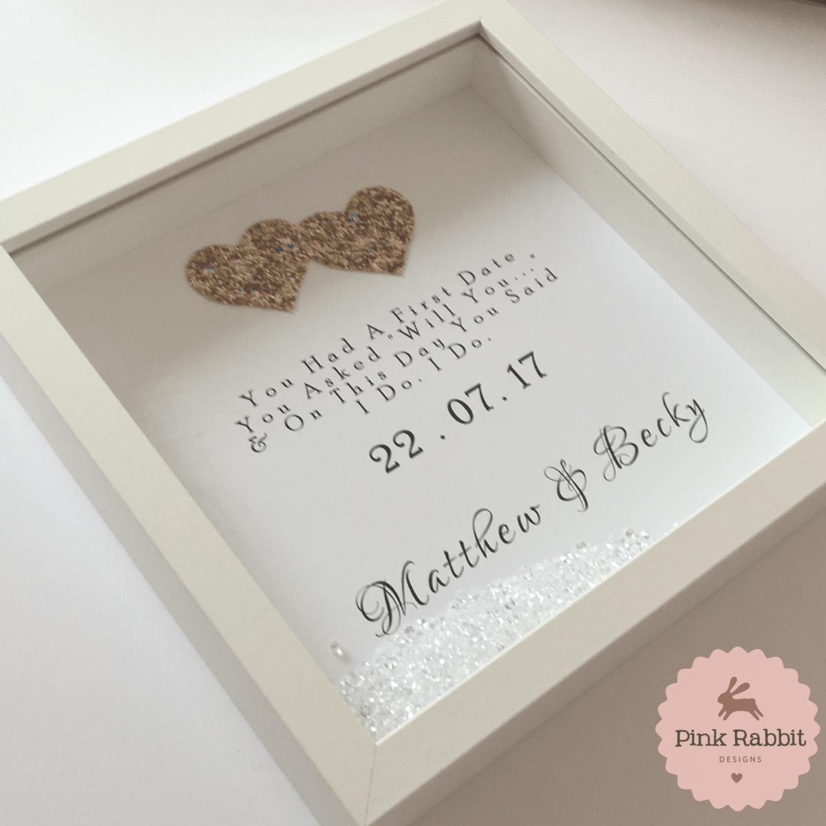 Wedding Date Frame - Pink Rabbit Designs