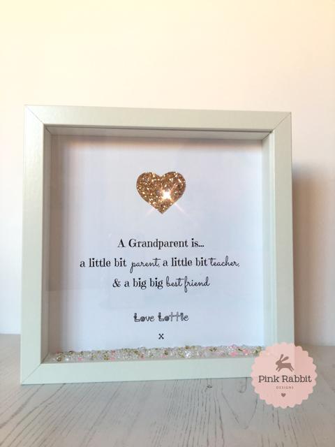 Grandparent Best Friend Personalised Frame - Pink Rabbit Designs